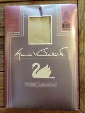 Gloria Vanderbilt Daysheer Pantyhose Sandalfoot Off White Size B
