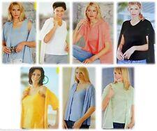 Hüftlange Damen-Shirts aus Baumwolle ohne Muster