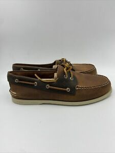 Sperry Mens A/O 2 Eye Dark Tan /brown Boat Shoe Size 11 M , 603