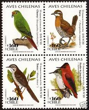 CHILE, CHILEAN BIRDS, MINT NEVER HINGED BLOCK.-