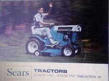 Sears Suburban Custom Lawn Garden Tractor 1966 COLOR Sales Brochure Riding Mower