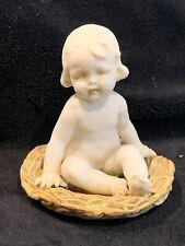 Porzellanfabrik E. & A. Müller Porcelain Child In A Nest Figurine