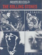 She's So Cold - The Rolling Stones - 1980 Sheet Music