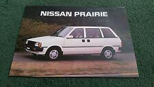 Menta de diciembre de 1987/1988 modelo Nissan Prairie SGL/aniversario II Reino Unido Folleto