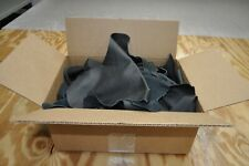 10 lb Box Black Cowhide Remnants Scrap Leather Pieces Free Shipping