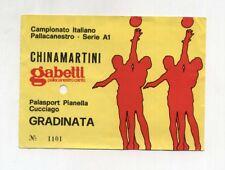 Biglietto Ticket GABETTI Pallacanestro CANTU' - CHINA MARTINI BASKET TORINO