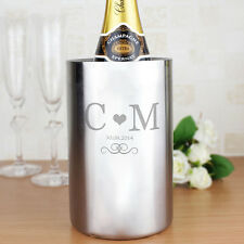 Personalised Wine Cooler Champagne Bucket Anniversary Gift Wedding Engagement