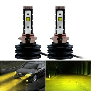 9006 HB4 High Power CREE Chips 3000K Golden Yellow LED Headlight Low Beam Bulbs