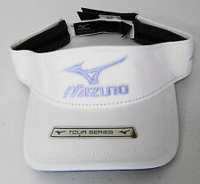 NWT Mizuno Golf Tour Visor, White & Blue, One Size Fits All, 260163