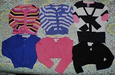 Lot of 6 3T Girl Name Brand Cardigans Greendog Carters TCP Stripe Blue Pink