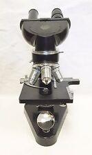 E. Leitz Wetzlar Binocular Compound Microscope- 4x/10x/45x/100x Oil w/ Slide Kit