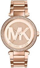 Stylish Ladies Michael Kors MK5865 Rose Gold Parker Watch