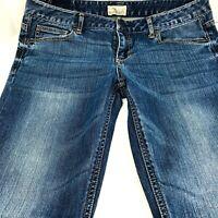 Aeropostale Ashley Ultra Skinny Low Rise Stretch Womens Blue Jeans 11/12 Short