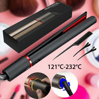 2 In 1 Hair Curler Straightener Professional Salon Curling Hair Iron Tool+Brush