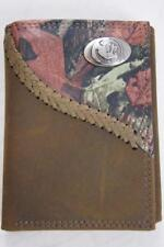 ZEP-PRO Florida State Seminoles Fence Row Camo Leather Trifold Wallet Tin Box