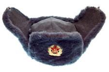 Military Ushanka Officer Winter Fur Hat Russian Army Soviet Cap USSR Uniform