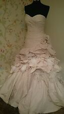Ian Stuart Chiquitita rose stripe size 12 wedding dress