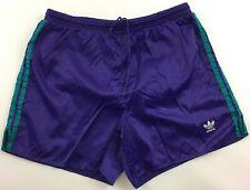 Adidas vintage 1990s purple green nylon shorts Hose soccer running mens D9 40 XL