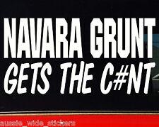 NAVARA GRUNT d40 d22 4x4 offroad Funny Stickers 200mm