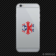 Tennessee Snowflake Cell Phone Sticker Mobile TN snow flake snowboard skiing