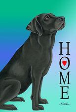 Garden Indoor/Outdoor Home (Tp) Flag - Black Labrador Retriever 620011