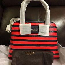 NWT Kate Spade Julia Street Stripe Maise Satchel Bag $298 PXRU6342 Original Pack
