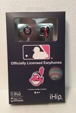 CHIEF WAHOO CLEVELAND INDIANS iHIP EARPHONES BUDS NOISE ISOLATING  BRAND NEW