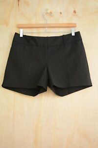 NWT The Limited - Black TAILORED cotton blend dressy chino shorts, size 6