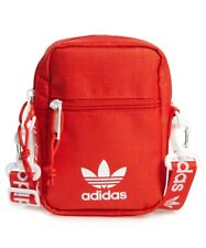 adidas Originals Festival Crossbody Bag Red One Size Mini Travel Convertible