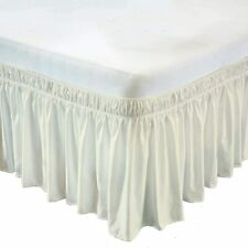 Super Soft Linen Wrap Around Bed Skirt Three Side Microfiber Extra Size(Ivory)
