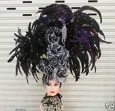 DaNeeNa H194 Queen of The Night Crystal  Showgirl Dance pageant Headdress