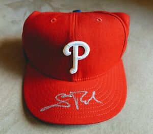 SCOTT ROLEN PHILADELPHIA PHILLIES Signed New Era Fitted Hat Cap 7 3/4 COA Auto