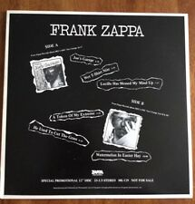 Frank Zappa – Joe's Garage Act 1, 2 + 3 promo only sampler LP