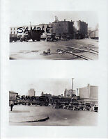 2 Photos NYC CENTRAL RAILROAD 11th AVENUE WEST 35TH ST YARD 1930s Free Ship!