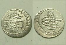 Mustafa 1757AD/81 RARE Islamic silver Para coin/Ottoman/Turkey ISTAMBUL 1172AH