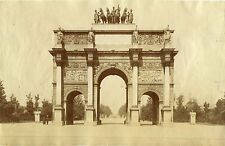 JULES HAUTECOEUR, PARIS, Arc de Triomphe du Carrousel & Original ca 1880's PHOTO