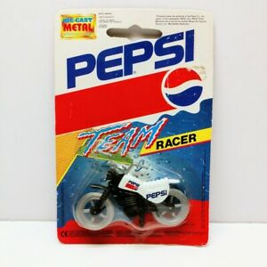 Vintage 1992 PEPSI TEAM RACER Motocross Dirt Bike MIP 1/64 Diecast Rack Toy