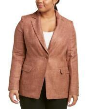 "$1015 New MARINA RINALDI ""CANNES"" Silk Linen Wool Blend Blazer Suit Jacket US-12"