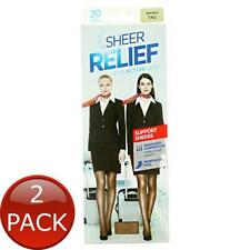 2 x SHEER RELIEF WOMEN'S SUPPORT PANTYHOSE MINI BEIGE TALL STOCKINGS ACTIVE LEGS
