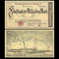 Germany Stuttgart 500 Milliarden Mark, 1923, P-S1378, A-UNC