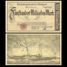 Germany Stuttgart 500 Milliarden, 1923, P-S1378, Europe paper money, AUNC