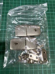 Original Lockable Ferrograph Reel To Reel Hinges With Key - 1 Set