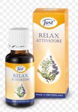 relax attivatore just 20ml olio essenziale insonnia stress Ansia aromaterapia