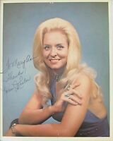 Karen Wheeler Original Autograph 1980s Country Star, Sexy Blonde in Halter Dress