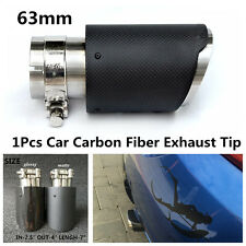 Glossy MODIFIDE MUFFLER pipe Akrapovic Carbon Fiber Exhaust Tip 63MM IN-101MMOUT