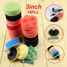 "19pcs 3"" Inch 80mm Buffing Pad Polishing Pad Kit Set for Car Polisher Sponge"