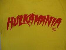 """WWE World Wrestling Entertainment """"Hulkamania"""" Hulk Hogan Yellow T Shirt S"""