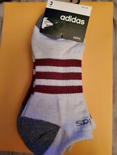 Adidas Socks 3 pairs size 6-12. Low cut gray and maroon