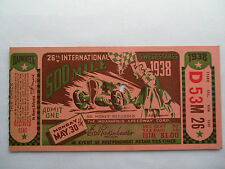 INDY 500__1938__Original TICKET STUB__INDIANAPOLIS 500__EX