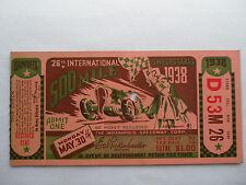 INDY 500__1938__Original TICKET STUB__INDIANAPOLIS 500__EX